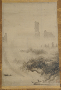 Three Japanese Landscape Scrolls with Figures