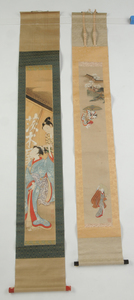 Two Japanese Scrolls with Figures