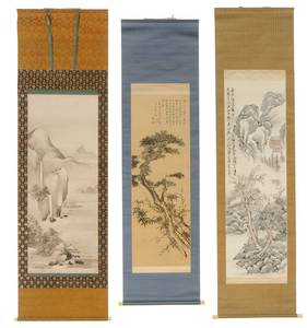 Three Japanese Landscape Scrolls