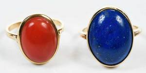 Two Gold & Gemstone Rings