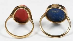 Two Gold & Gemstone Rings