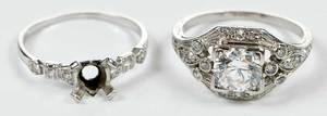 Two Platinum & Diamond Mountings