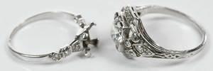 Two Platinum & Diamond Mountings