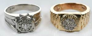 Two Gold & Diamond Rings