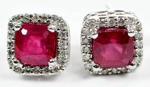 14kt. Gold, Ruby & Diamond Earrings
