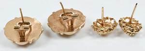 Two 14kt. Gold & Opal Earrings
