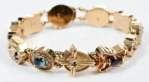 14kt. Gold & Gemstone Slide Bracelet