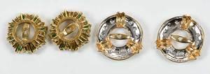 Two Gold Earrings Jackets