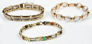 Three 14kt. Gold Bracelets