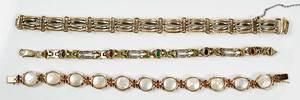 Three 14kt. Gold Bracelets