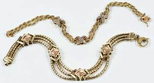 Two 14kt. Gold Bracelets