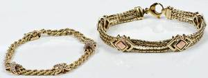 Two 14kt. Gold Bracelets