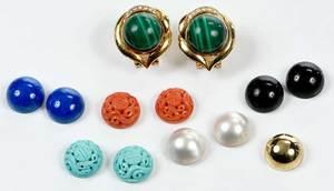 14kt. Gold & Gemstone Earring Set
