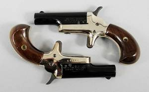 Pair Colt Derringer 4th Model Pistols