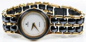 Cyma 14kt. Gold & Ceramic Watch