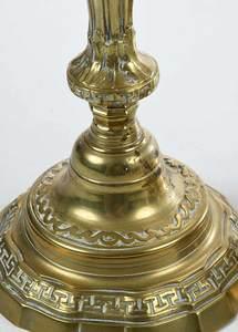 Pair 18th Century Brass Candlesticks
