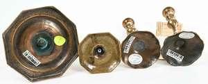 Four Georgian Bell Metal Sticks