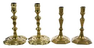 Two Pairs Early Georgian Candlesticks