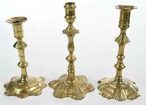 Three Fine Georgian Candlesticks