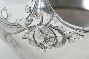 Russian Silver Art Nouveau Serving Dish