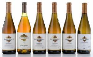 Six Vintage Bottles Kendall-Jackson California Chardonnay
