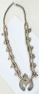 Southwestern Silver Squash Blossom Necklace