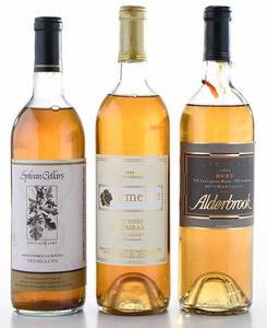 Three Vintage California White Wines