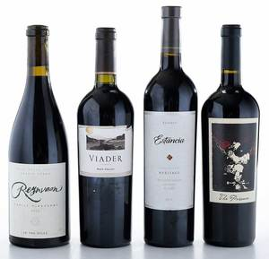 Four Vintage West Coast Red Wines