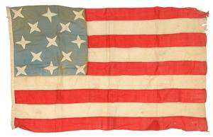 13 Star, Nine Stripe Folk Art American Flag