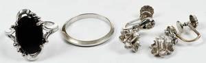 Three Pieces 14kt. Gold Jewelry