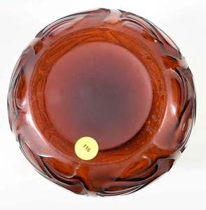 R. Lalique Sophora Amber Glass Vase