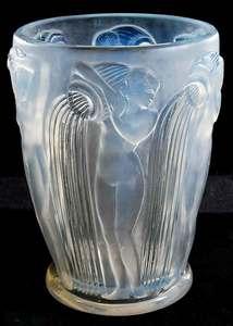 R. Lalique Danaides Opalescent  Vase