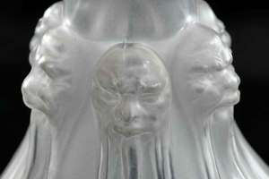 R. Lalique Six Têtes Frosted Glass Decanter