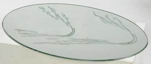 Pair Lalique Cygnes Swans with Mirrors