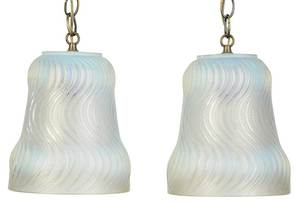 Two R. Lalique Actinia Opalescent Glass Vases