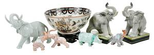 Group Porcelain Elephants, Herend