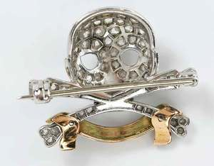Platinum, 14kt. Gold and Diamond Brooch