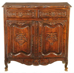 Provencial Louis XV Style Carved Oak Server