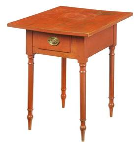 American Federal Red Painted Stand