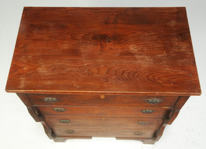Southern Inlaid Walnut Four Drawer Chest