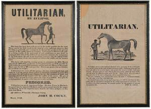 Two Bremo Plantation Horse Broadsides