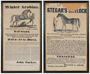 Two Virginia Horse Breeding Broadsides