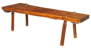 Walnut Slab Low Table or Bench