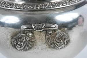 Four Piece Virginia Coin Silver Tea Service