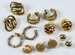 Seven Pairs Costume Earrings