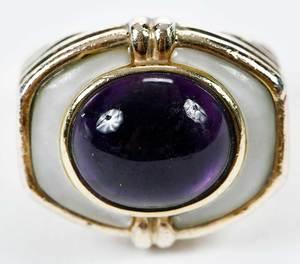 Kylo Silver Amethyst Ring