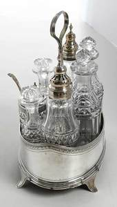 1790 Eight Piece Cruet Set