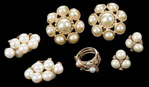 Costume Jewelry: Three Earclips, One Ring