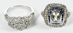 14kt. Gold and Diamond Ring & Gemstone Ring
