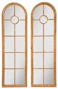 Pair Arched Painted Mirror Panels